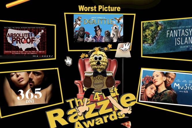 В Лос-Анджелесе навручении «Золотой малины» называли худшие фильмы года