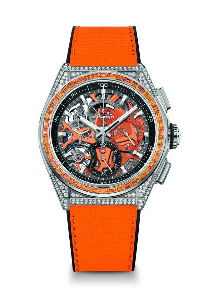 Zenith DEFY 21 Spectrum с оранжевыми сапфирами