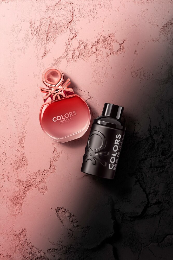 Парные ароматы Colors Man Black Intenso & Colors Woman Rose Intenso от United Colors of Benetton