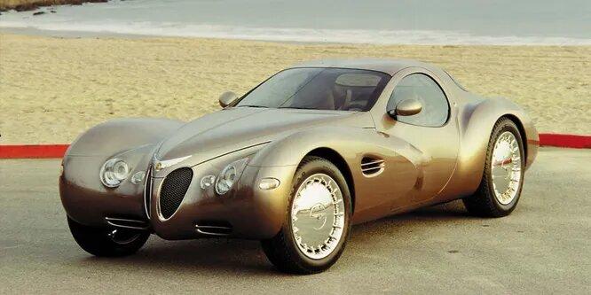 <br />Chrysler Atlantic показали на Автошоу Детройта более двенадцати лет назад. Его ретро-дизайн отсылал к 1930 годам, а 4-литровый двигатель представлял из себя два движка Neon, спаянных в один. По сути, столь странное авто было создано попросту для красоты, и отлично справлялось со своей задачей.<br />&nbsp;