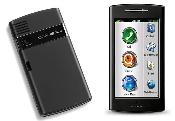 <br />Телефоны от Garmin. В 2008 году Garmin, известная фирма-производитель GPS устройств, решила прорваться на рынок смартфонов. В 2009 году Garmin в сотрудничестве с Asus выпустила свой G60. Но iPhone и другие мощные современные смартфоны с GPS навигацией растоптали G60 всмятку. В конце концов, это был хороший навигатор на плохоньком телефоне.<br />&nbsp;