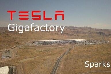 Как возводили колоссальную фабрику Tesla Gigafactory: видео