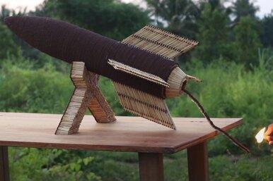 Взлетит ли ракета из70 000 спичек: зрелищный эксперимент