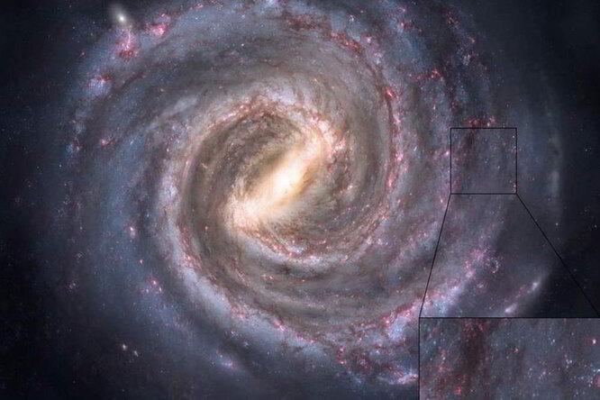 Огромная карта Млечного Пути: наши далекие соседи