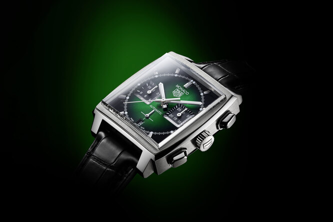 Хронограф  Стива Маккуина стал зеленым: ТAG Heuer Monaco Green Dial