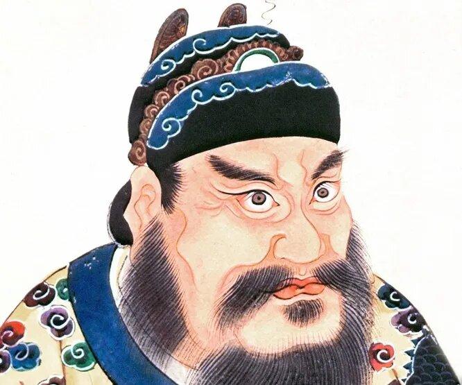 Портрет Цинь Шихуанди. Степень сходства неизвестна.