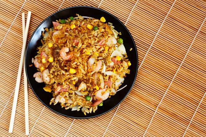 Рис скреветками иветчиной: вкусный иполезный ужин безперебора