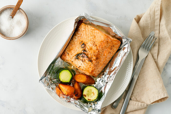 Лосось сцукини за20 минут: готовим идеальный мужской ужин