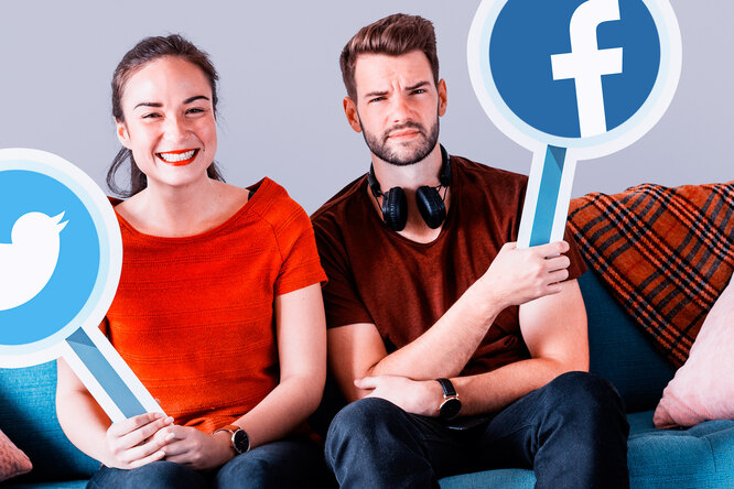 Facebook показывает разные объявления ирекламу взависимости отпола пользователя