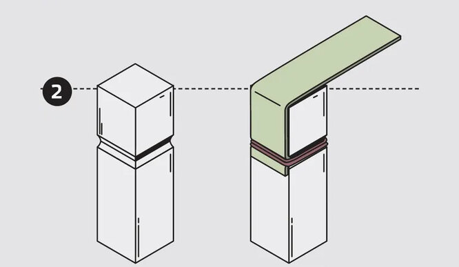 На корпус прямоугольного сечения плоская резина крепится лучше.