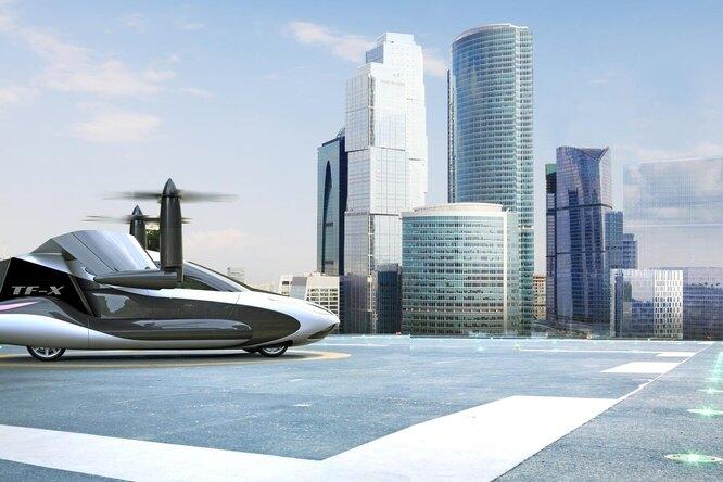 Terrafugia TF-X: необычный концепт летающего автомобиля
