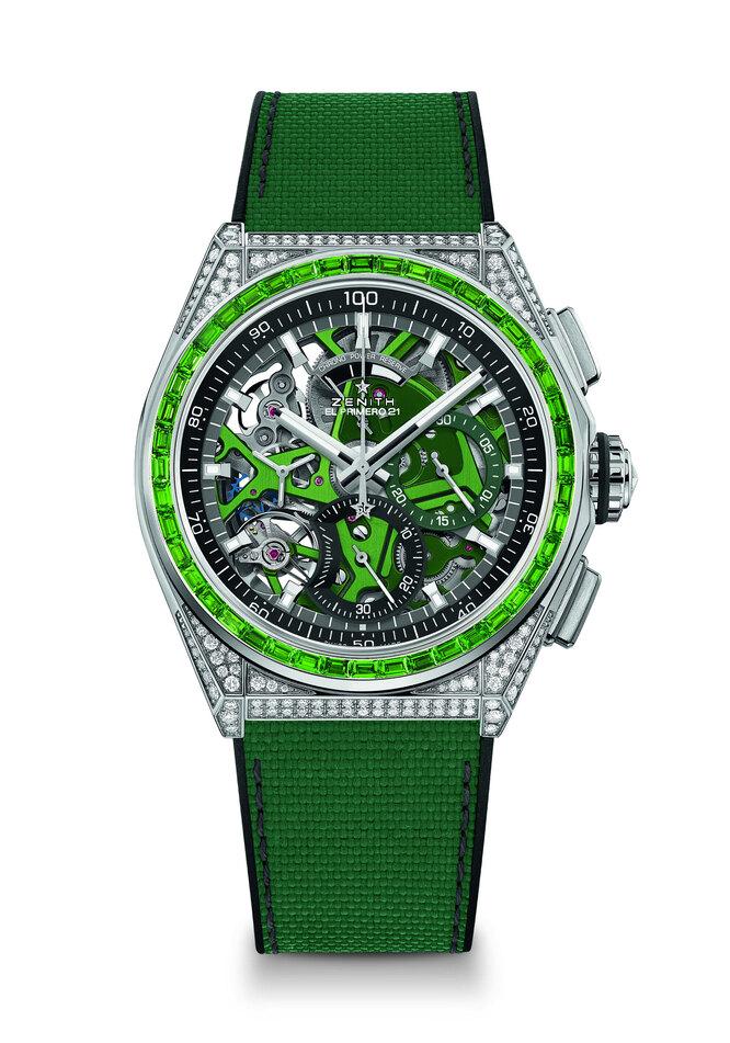 Zenith DEFY 21 Spectrum с зелеными цаворитами