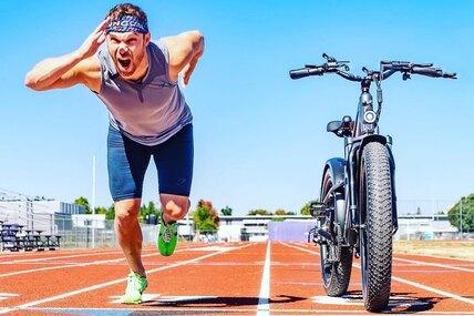 Олимпийский бегун против электрического велосипеда: кто быстрее?