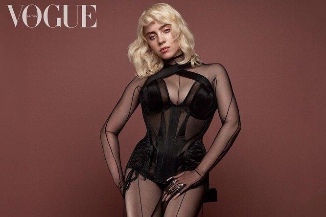 Билли Айлиш снялась вбелье икорсете дляжурнала Vogue