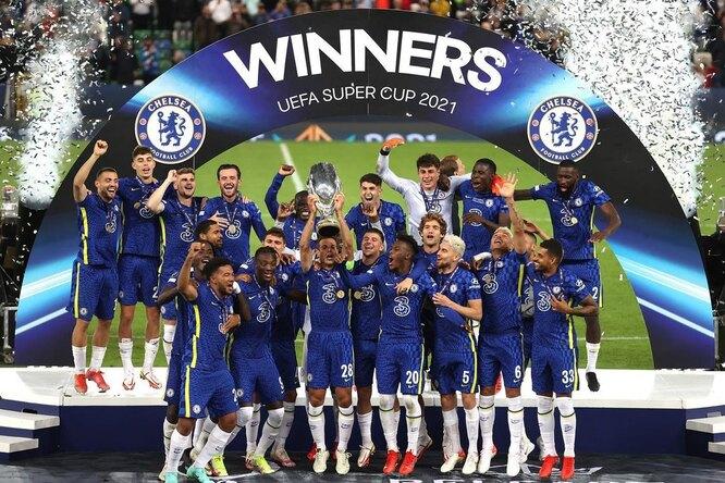 «Челси» второй раз вистории выиграл Суперкубок UEFA