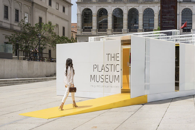 В Мадриде Музей пластика отправили напереработку вместе сэкспонатами