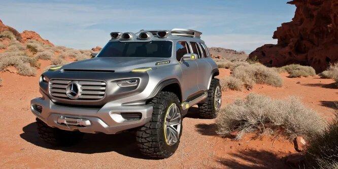 <br />Mercedes-Benz Ener-G-Force разрабатывался как G-Wagen будущего. Благодаря особенностям конструкции этот внедорожник может проехать 800 км без дозаправки, а огромные колёса обеспечат проходимость по любой территории.<br />&nbsp;
