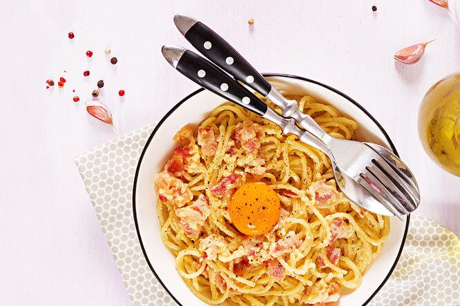 Как приготовить спагетти карбонара: паста свысоким содержанием белка