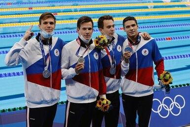 Российские пловцы завоевали серебро вэстафете вольным стилем наОлимпиаде вТокио