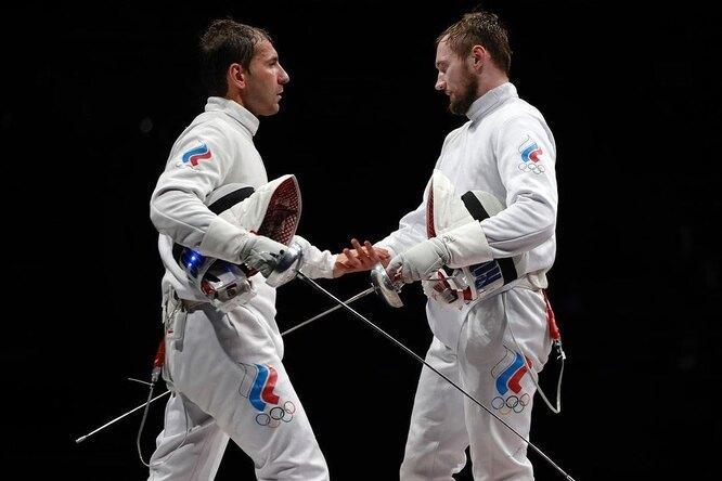 Мужская сборная Олимпийского комитета России взяла серебро вфехтовании нашпагах
