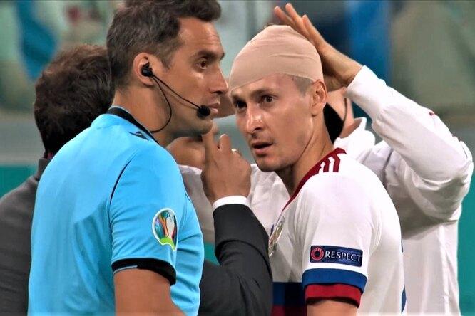 Футболист российской сборной рассказал опотере памяти во время матча сБельгией